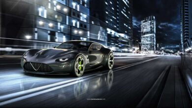 ألفا روميو TZ4 تعرض تخيل للسيارة GT الإيطالية الحديثة