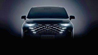 هيونداي التصميم الداخلي للسيارة 2022 Custo Minivan مع شاشة كبيرة