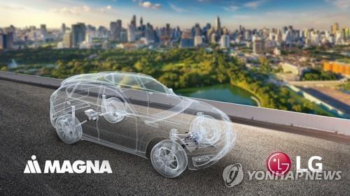 انطلاق مشروع السيارات الكهربائية المشترك بين إل جي وماجنا